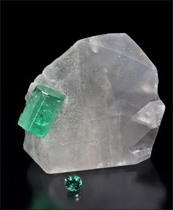 Emerald Colombia Rough and Cut
