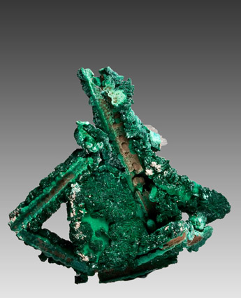 Malachite and Chrysocolla pseudomorph after Selenite Apex Mine Utah