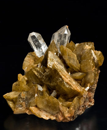 Siderite with Quartz Morro Velho Brazil small cabinet