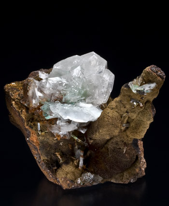 Calcite with Aurichalcite Ojuela Mine Mexico small cabinet specimen