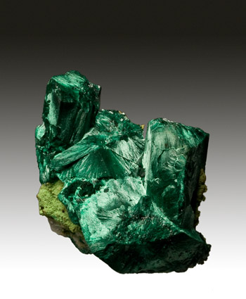 Malachite pseudo after Azurite Tsumeb Namibia miniature
