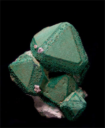 Malachite on Cuprite Emke Mine Namibia Pellman Collection small cabinet