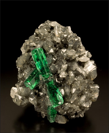 Emerald Calcite Coscuez Mine Colombia