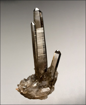 Smoky Quartz large crystal Lincoln County New Mexico small cabinet