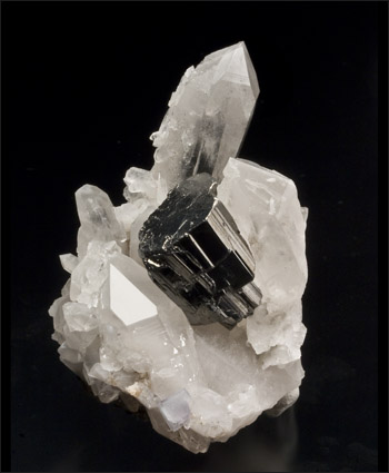 Bournonite on Quartz Yaogangxian China small cabinet