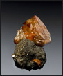 Wulfenite on matrix Tsumeb Mine Namibia miniature