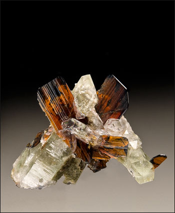 brookite with quartz Taftan Pakistan miniature