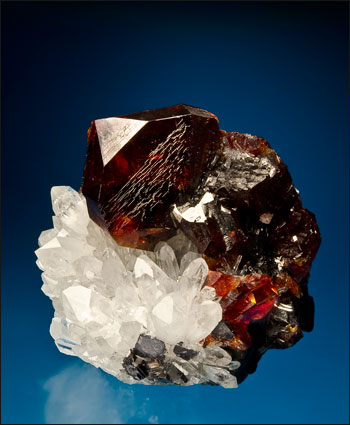 sphalerite with quartz Rucheng Mine China small cabinet
