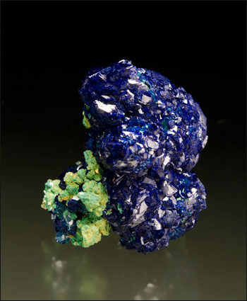 azurite with malachite la sal utah miniature