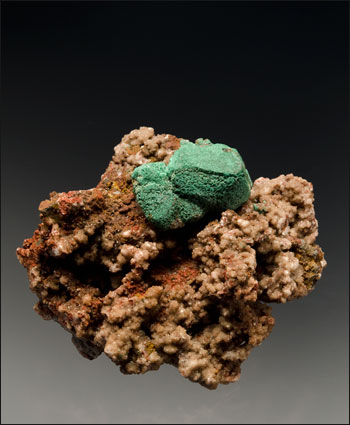 malachite on cuprite Emke Mine Namibia Sussman small cabinet