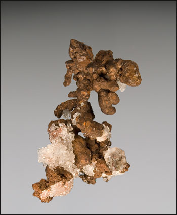 copper with quartz Kipushi Mine Katanga Zaire Congo miniature